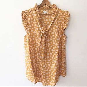 ANTHROPOLOGIE | odille mustard ruffle top